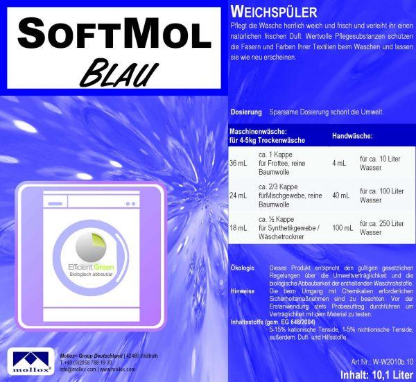 SoftMol FRESH BLUE – Омекотител За Свеж Текстил