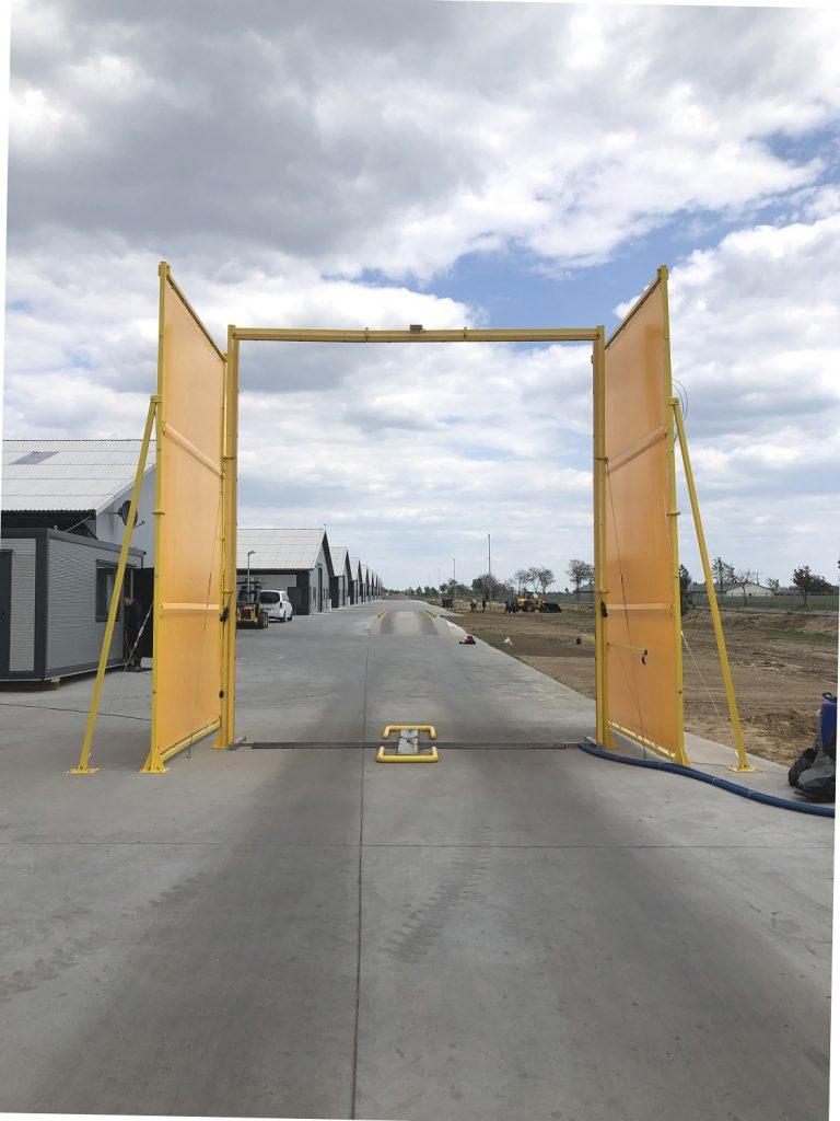 Biosecurity Gate Draft Shield